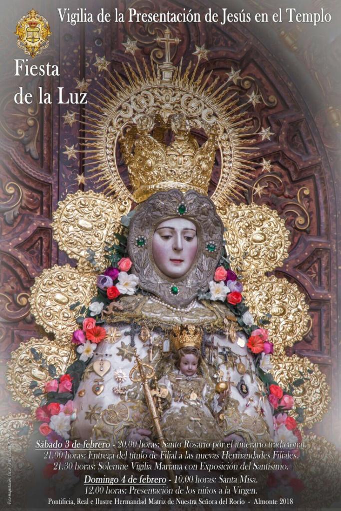 candelaria 2018 rocio hermandad matriz almonte sevilla sur